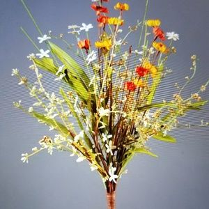 NEW Set of 2 Branch Assorted Mini Mums and grasses